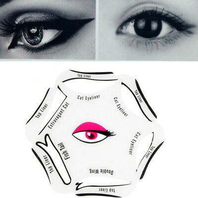 Eyeliner Stencil Cat Eye Liners Fish Tail Double Wing 6 In 1 UK Seller