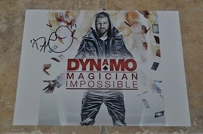 "Dynamo Signed 10.5"" x 8"" Colour Photo Magician Impossible"