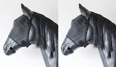 2 Pack Horse Fly Veils Masks Bonnets Strong Sensible Insect Protection Full