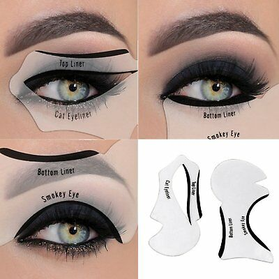 Eyeliner Stencil Cat Eye Liners Smokey Look 2 In 1 UK Seller