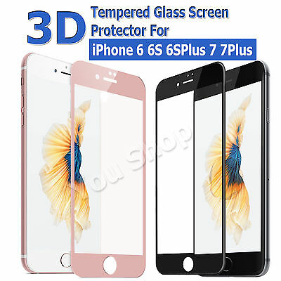 3D Tempered Glass Full Screen Coverage Protector For Apple iPhone 7/7 Plus 6/6s