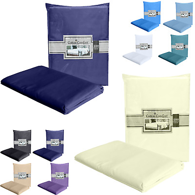 400 Thread Count 100% Egyptian Cotton Luxury Fitted Bed Sheet Flat Bed Sheet UK