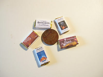5 Dolls House Miniature Chocolate Bars