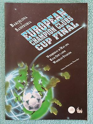 1992 - EUROPEAN CUP FINAL PROGRAMME - BARCELONA v SAMPDORIA - ENGLISH EDITION