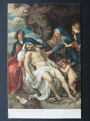 LAMENTATION AFTER CRUCIFIXION Artist Van Dyke c1909 Postcard by Misch & Co.1089