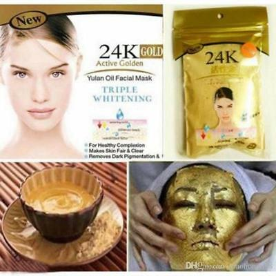 Gold Face Mask Powder Spa Facial Acne Scars Treatment Anti-Ageing 50g UK