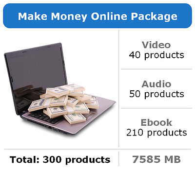 Make Money Online Package / 300 Products / Large Collection