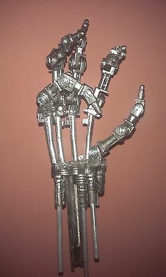 """14"""" T800 TERMINATOR ENDO HAND with Base Sci-Fi Movies ABS Model ☺1:1 ARTICULATED"""