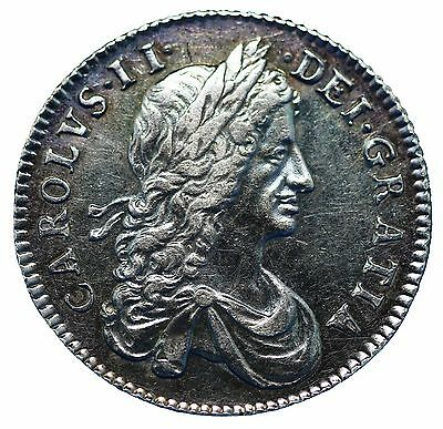Charles II Silver Shilling 1663 First Bust variety S3372 EF or better