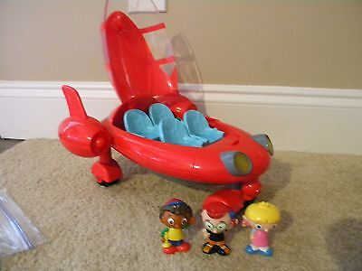 LITTLE Einsteins rocket ship red pat pat with 3 figures LOT