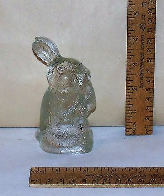 CLEAR GLASS RABBIT - Empty CANDY CONTAINER - GLASS BUNNY