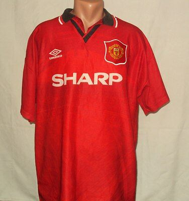 Manchester United 1994/1996 Home Football Shirt Maglia Jersey Umbro