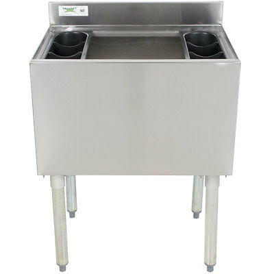 """18"""" x 30"""" Underbar Stainless Steel NSF Silver Commercial Ice Bin"""
