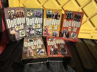 LOT of 6 doo wop gold vhs tapes