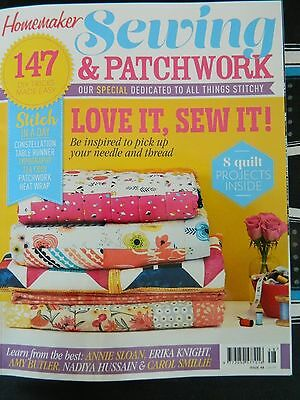 Homemaker SEWING & PATCHWORK Magazine. As New with  FREE GIFT & Free Postage!!!