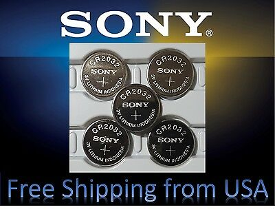 **Save $1, Buy Any 2 Packs** 5 pieces SONY CR2032, CR 2032 3v Lithium battery