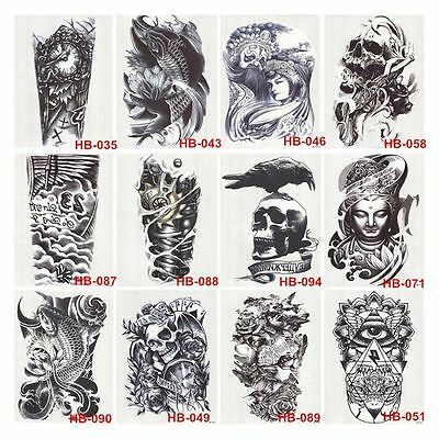 New Large Arm Body Waterproof Fake Sticker Removable Temporary Tattoo