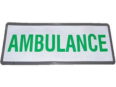 AMBULANCE Reflective Badge (Small) No Hook & Loop Medic Community Paramedic EMT