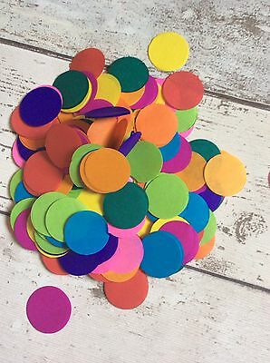 1000 x Tissue Paper Rainbow Circles Confetti/Favors/Multi-Coloured