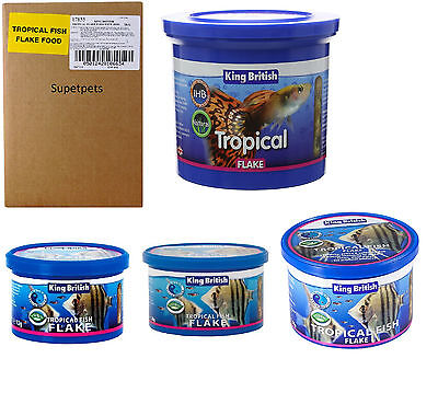 KING BRITISH TROPICAL 12g, 28g, 55g, 200g, 2kg AQUARIUM FISH FLAKE FOOD