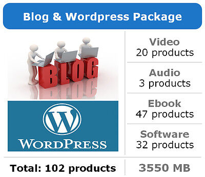 Blog and Wordpress Package / 102 Products / Large Collection