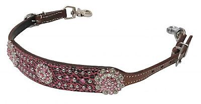 BLING & PINK Leopard Print Western Leather WITHER STRAP Breast Collar Horse Tack