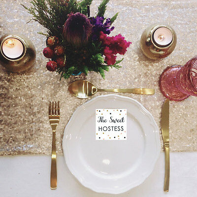 Champagne Blush Sequin Table Runner - Ready to ship from the UK