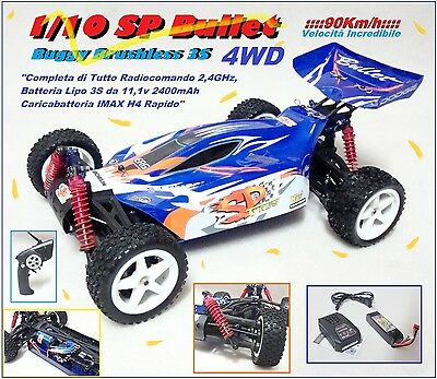 Automodello 1/10 Buggy SP Bullet BRUSHLESS a 3S 2,4GHz RTR Completa di Tutto