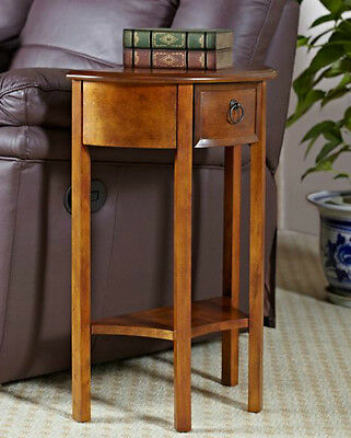 Wood Hall Table Antique Half Moon Console Vintage Sofa Entryway Telephone Stand