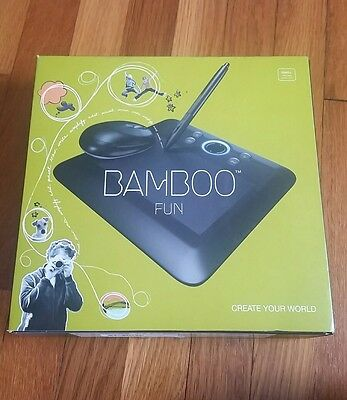 Wacom Bamboo FUN Pen & Touch Mouse USB Drawing Tablet Adobe Photoshop Bundle BLK