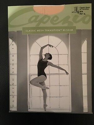 UNOPENED Capezio Mesh Transition Tights With Seams PNT L/XL
