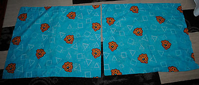 Bear in the Big Blue House Bedroom Set 2 PILLOW CASES Disney RARE Double Sided