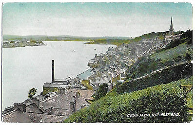 Vintage Postcard.  Cobh From The East End.  Used 1962.  Ref:71335