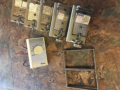Lot Of Used Working Baseboard Heater Thermostats