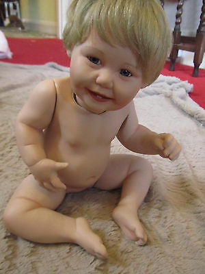 Ashton - Drake China Baby Girl Doll with Movable Limbs Not Clothed 1993 Vintage