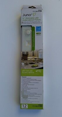 Juno 12 in. White LED Dimmable, Linkable Under Cabinet Light