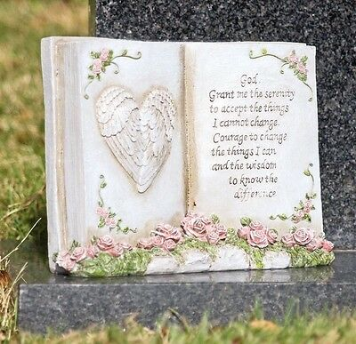 Grave Side Garden Serenity Book Ornament Memorial Remembrance Scroll Free Delive