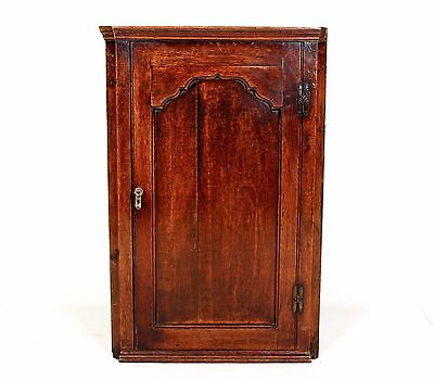 Antique Oak Corner Cupboard Cabinet Victorian Wall Mounted Bookcase