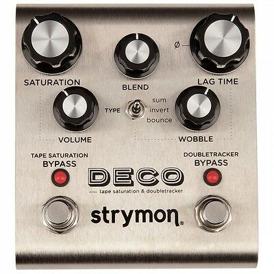 Strymon Deco Tape Saturation and Doubletracker Guitar or Bass Effect Pedal