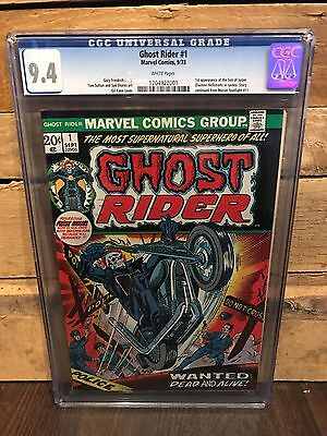 Ghost Rider #1 Cgc 9.4 Nm 1St App Of Son Of Satan White Pages