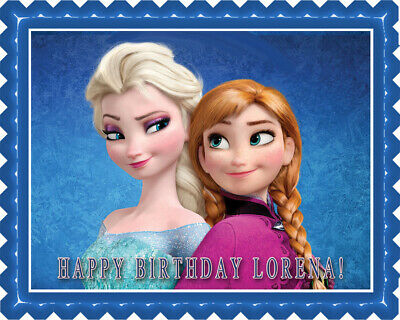 Frozen Anna And Elsa Edible Cake Topper Or Cupcake Topper Decor