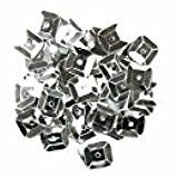 Craft Factory CF01/40701 | Silver Square Sequins | 7mm | approx 5g