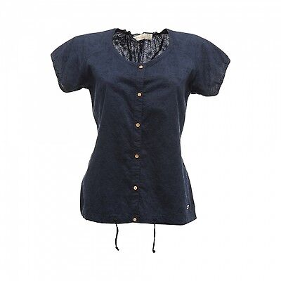 Regatta Delite Womens Lightweight Cool Cotton Casual Summer Shirt Navy Size 10