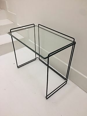 Max Sauze Vintage Wire Metal Side Nesting Table 1960s/70s