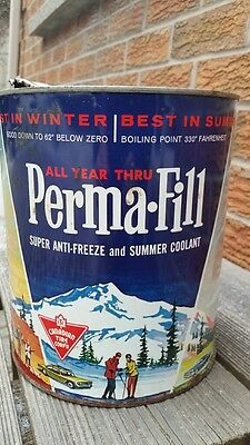 Canadian Tire CTC Perma-Fill Anti Freeze Imperial Gallon Tin Can