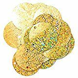 Gold Hologram Round Sparkle Sequins | 20mm approx. 7g