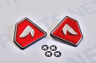 Honda CB750 1972-76 Side Cover Badges Emblems Diamond Red
