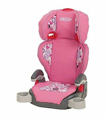 Graco Turbo Booster - High Back & Backless Child Car Seat - Love Hearts