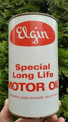 Canadian Elgin Special Long Life Motor Oil Imperial Quart Tin Can
