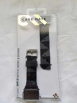 Case-Mate - Facets Smartwatch Band for Apple Watch Sport & Edition 38mm - Black